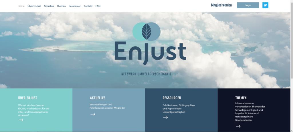 EnJust Webseite